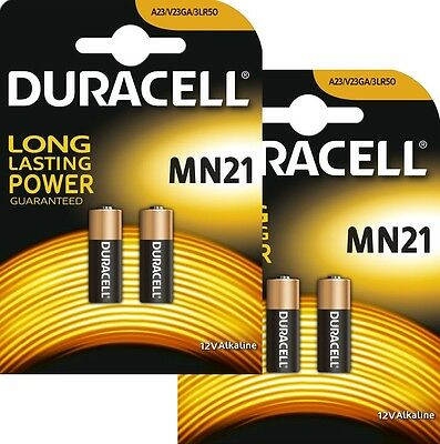 4 Duracell 12V Alkaline Battery MN21 LRV08 A23 car alarm remote