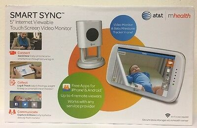 (New) AT Smart Sync 5 Inch Internet Viewable Touch Screen Video Monitor