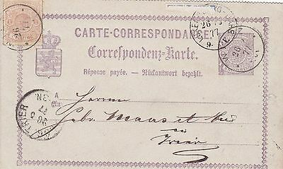 1877: Carte-Correspondance Luxembourg to Germany