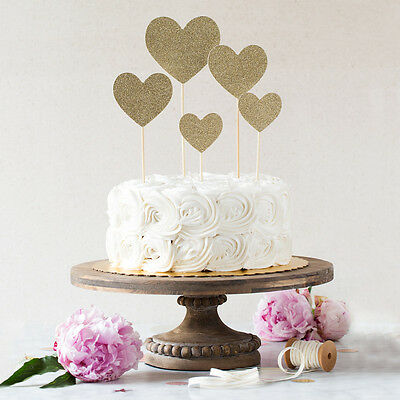 NEW Fancy cake topper glitter hearts Women's by We Love Sundays