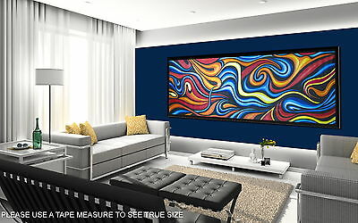 "150cm x 50cm CANVAS PRINT ART PAINTING ""OCEAN FIRE"" LANDSCAPE  ABORIGINAL"