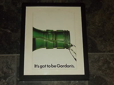Gordons Gin-1974 Original advert Framed ready for your wall