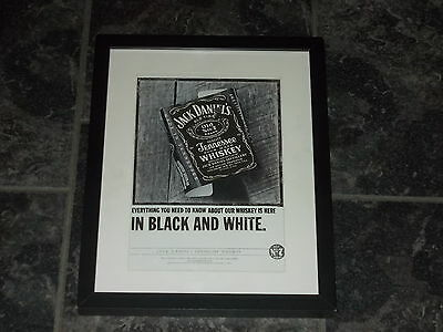 Jack Daniels whiskey-Rare Original advert Framed ready for your wall(4)