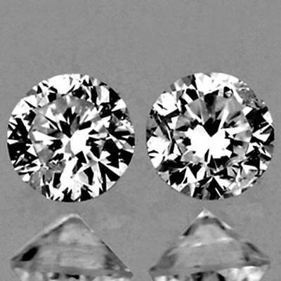 1.6mm MATCHED White Round DIAMOND Pair D SI1 NATURAL LOOSE GEMSTONES (534)