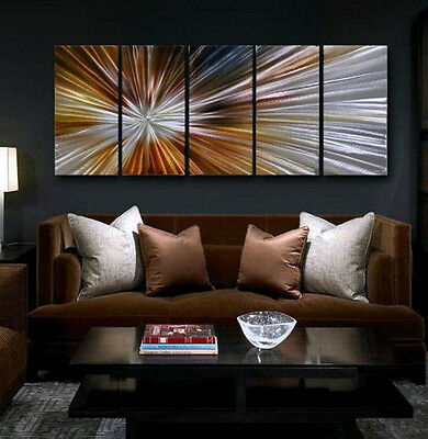 Wall Art Modern Abstract Metal Original painting Large Contemporary Artwork
