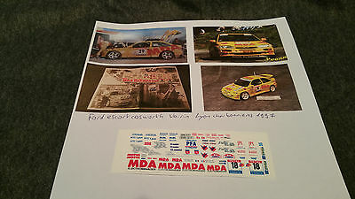 Decals 1/43 Ford Escort Voirin 1997