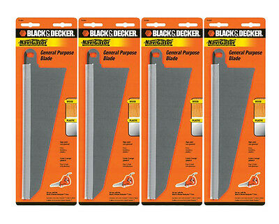 Black & Decker 4 Pack SC500 Handsaw Replacement 74-591 Large Wood Cutting Blade