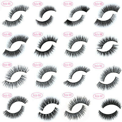 100% Real Mink Soft Long Natural Thick Makeup Eye Lashes False Eyelashes