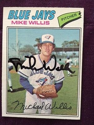 1977 OPC Mike Willis Autographed Signed Card # 103