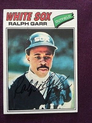 1977 Topps Ralph Garr Autographed Signed Card # 133