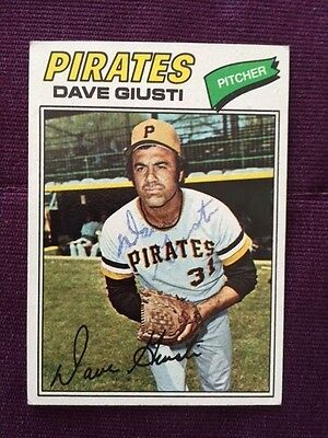 1977 Topps Dave Giusti Autographed Signed Card # 154