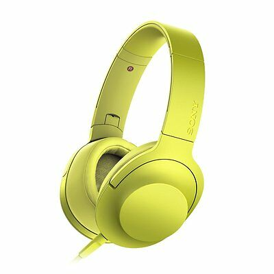 Sony MDR-100AAP h.ear on Hi-Res Over-Ear Headphones Headset Yellow