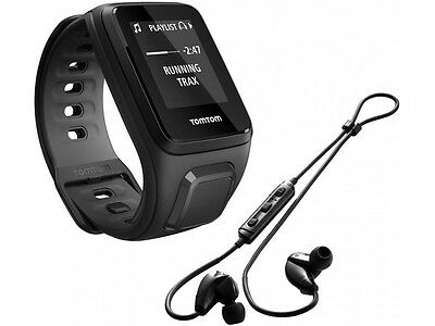 TomTom Spark Music GPS Multi-Sport Fitness Watch & Bluetooth Headphones - Small