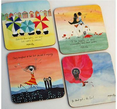 Imagine Ellie Coasters Set of 4 Bums, Laughed, Girl And Undies