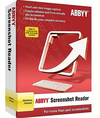 ABBYY SCREENSHOT READER FULL OCR ITALIANO nuovo