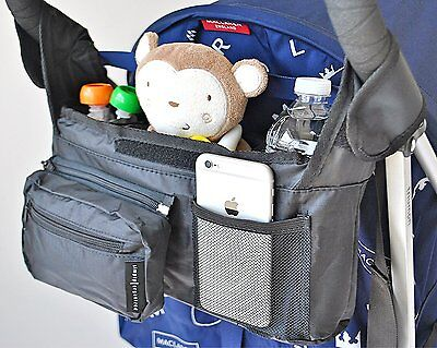 Premium Stroller Organizer - Universal Fit with Detachable Pouch and Insulated |