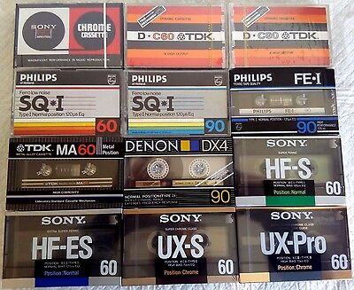CASSETTE TAPE BLANK - 1x (one) SONY CHROME C-60CR [1972-75] made in Japan EUR.
