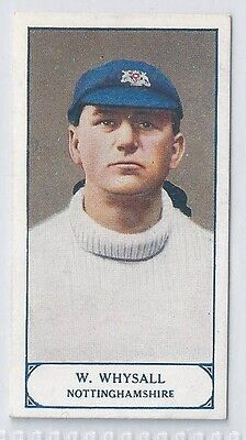 PATTREIOUEX CRICKETERS SERIES CIGARETTE CARD 1926 #52 WHYSALL Notts