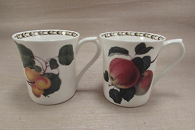 Rosina Queens Bone China India HOOKERS FRUIT Mugs - Set of Two