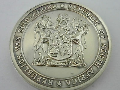 Stunning Rare Cased Sterling Silver Republic Of South Africa Medal 31/05/1961