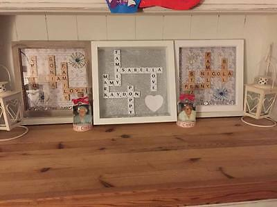 Personalised Scrabble Picture Frame