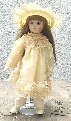 """Heritage Mint Ltd Collection Victorian Porcelain Doll. 16"""" Tall."""