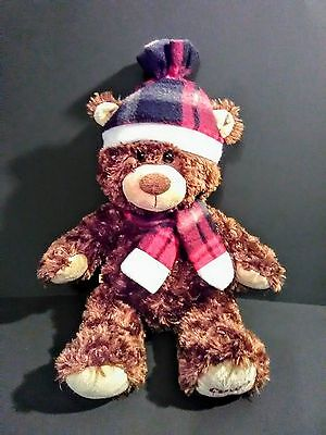 """Build A Bear - """"CDW Exclusive BROWN FUZZY BEAR"""" Dressed Clothes 15"""" Plush"""