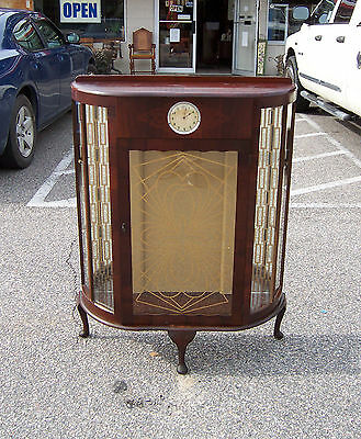 Wooden Display Cabinet with Glass Rounded Front