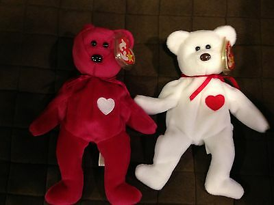 Ty Beanie Baby / Babies Authentic Valentino & Valentina Mint With Tags