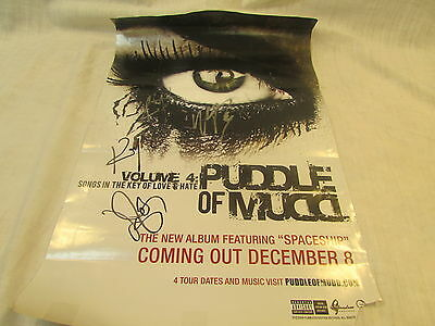 """Puddle of Mudd Signed Autographed """"Volume 4""""Poster"""