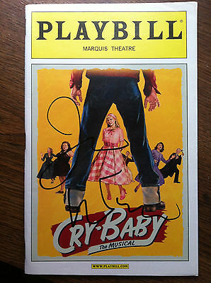 Cry Baby the musical playbill signed by James Synder of If/Then John Waters