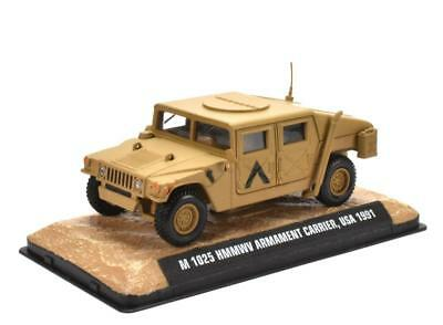 M1025 HMMWV Armament Carrier USA 1991 1:43 Fertigmodell Metall Displayvitrine