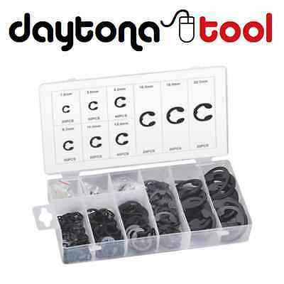 300pc METRIC E-CLIP RETAINING SPRING CIRCLIP VARIETY HARDWARE ASSORTMENT KIT