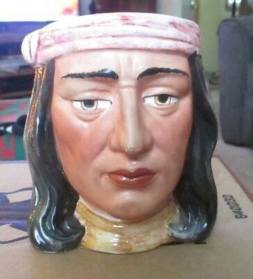 1932 Hand Painted Toby Planter Native American Bust