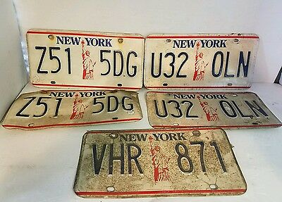 New York Statue of Liberty License Plate lot of 5 1980