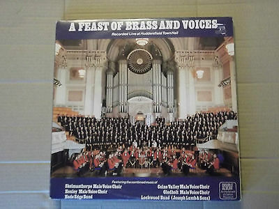 A FEAST OF BRASS & VOICES LP lockwood band, hade edge