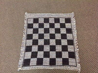 Chess Board Rug - Game - Table Top - Travel