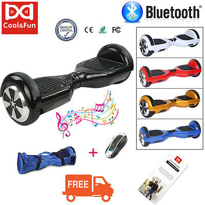 Bluetooth Self Balancing Electric Scooter 2 Wheels Balance Hover Board +Free Bag