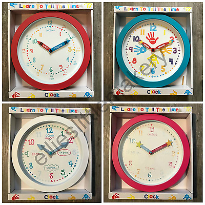Learn To Tell The Time Wall Clock Kids Children Learning Bedroom Decoration Fun