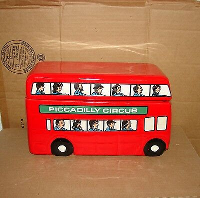 used Marshall Field's Piccadilly Circus Field Trip  Double Decker Bus Cookie Jar