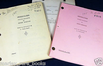 Original Sherlock Holmes THE WOMAN IN GREEN (1944) Annotated 3-SCRIPT ARCHIVE