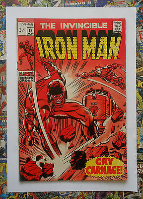 Iron Man #13 - May 1969 - Controller Appearance! - Fn- (5.5) Pence Copy!!!