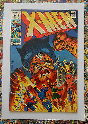 X-MEN #51 - DEC 1968 - 1st ERIK THE RED APPEARANCE! - FN/VFN (7.0) CENTS COPY!