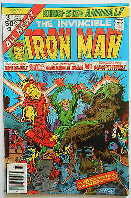Iron Man King-Size #3 - 1976 - Man-Thing Appearance! - Vfn+ (8.5) Cents Copy!!