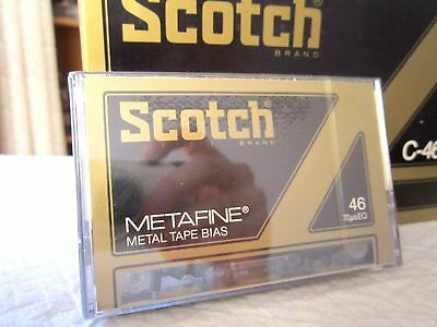 CASSETTE TAPE BLANK SEALED - 1x (one) SCOTCH METAFINE 46 (type IV) METAL 1979 3M