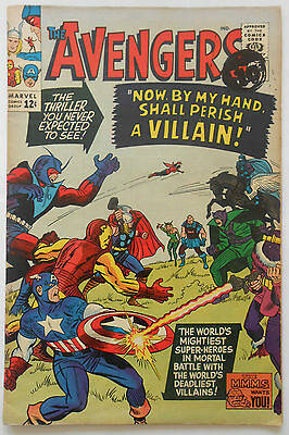 Avengers #15 - Apr 1965 - Death Of Baron Zemo - High Grade -Fn/vfn (7.0)