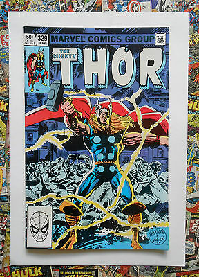 THOR #329 - MAR 1983 - HRUNGNIR 1st APPEARANCE! - NM (9.4)