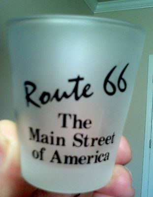 Route 66 Oklahoma frosted shot glass
