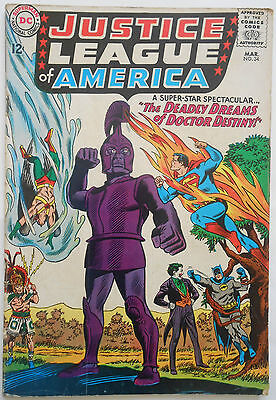 Justice League Of America #34 - Mar 1965 - Joker Cover - Fn- (5.5) Cents Copy
