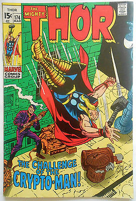 THOR #174 - MAR 1970 - 1st APPEARANCE CRYPTO-MAN! - FN (6.0) CENTS COPY!!